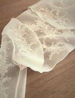 Wraps & Jackets Elegant Organza Wedding Bolero Women Lace Applique Bridal Jacket Long Sleeves For Bride Evening Dress Wear
