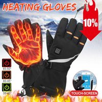 Motorcycle Gloves Winter Electric Heated Waterproof Windproof Cycling Warm Heating Touch Screen USB Powered Christmas Gift