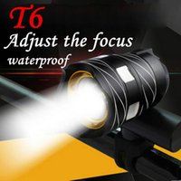 Bicycle Head Light Torches T6 LED Cycling Bike Bicycle Head Light With 3 Modes Torch USB charging Lights