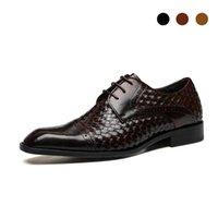 Derby Dress Bridegroom Black Shoes Genuine Leather Designer Handmade Best Men Shoes Original Casual Business