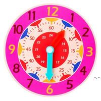 Детские игрушки, преподавательское пособие в раннем образовании, монтессори деревянные часы, игрушки, часы, минуты, секунды, когнитивные красочные часы DHF5