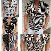 Camisa de impresión de letras de estilo Verano Slim Fit Hombres Moda de manga corta 2021 Hawaii Camisas Casuales de Hawaii Ropa masculina M-3XL-CZ02