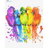 Paintings Paintmake Animal DIY Paint By Numbers Colorful Parrot Oil Canvas Painting Home Room Decoration Art Picture