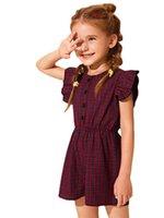 حللا أطفال أطفال بنات كم منقوشة رومبير بذلة أنيقة للأطفال الصيف 2Y-6Y