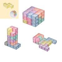 Fidget Oyuncaklar Manyetik Yapı Taşları Sihirli Manyetik 3D Bulmaca Küp Blok 54 Kılavuz Kartları Ile Zeka Geliştirme ve Stres Rölyef Toptan Fidgets Oyuncak