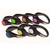 For Running Cycling Bike Sport Novelty lighting LED Luminous Shoe Clip Light Nights Safety Warning Bright Flash FEDEX