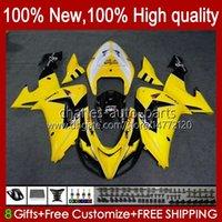 Motorcycle Bodys For KAWASAKI NINJA ZX 10R 10 R 1000 CC ZX10R 06 07 Bodywork 14No.59 ZX-10R ZX1000 1000CC 2006 2007 ZX1000C ZX1000CC 2006-2007 Fairing Kit yellow black