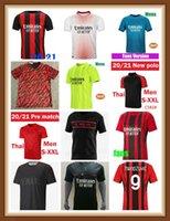 21 22 FANS Version AC Soccer Milan Balr. Jerseys 2021 2022 Ibrahimovic Tonali Mandzukic Kessie Men Kit Kits Futebol Camisas