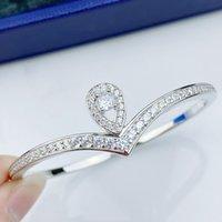 Fashion and Elegant Water Drop Bangle women Rose Gold Full Diamond Couple Gifts Designer Bracelet