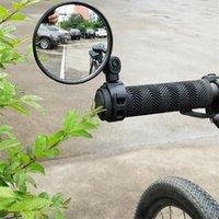 1 pareja bicicleta retrovisor manillar espejos ciclismo retro vista mtb bicicle mango de silicona espejo retrovisor negro 202 x2
