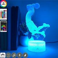 3D Bedside Illusion Dunk Figure Night Light LED Atmosphere Nightlight Basketball Fans Room Desk Lamp Home Decor Teenager Gift