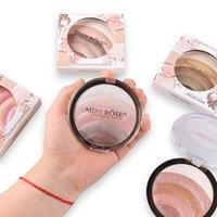 Blush Blusher Powder Palette 3D Face Contour Highlighter Rouge Makeup Cream Natural