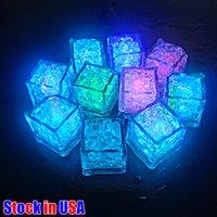 LED artificiale luminosa cubetti di ghiaccio luci luci fieristiche barricoltura a cubetti di cristallo cubo luminoso incandescente per il partito romantico wedding natale decorazione regalo usa