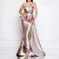Dress Women's Banquet Female Temperament Annual Meeting 3D Printing Embroidered Long Skirt