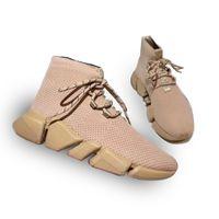 Nuovi Designer Designer Sneakers Sneakers Scarpe per Mens Donne Stretch-Knit Mid Sneakers Sneakers Mesh Peso leggero Scarpe da corridore con scatola SZ 35-46