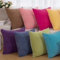 Cushion Decorative Pillow 1Pcs 43*43cm Solid Color Corduroy Fabric Throw Cushion Cover Seat Car Home Decor Sofa Bed Decorative Pillowcase 40