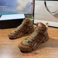 Flashtrek Yüksek Üst Çizmeler Sneakers Unisex Erkek Günlük Ayak Bileği Boot'un Yürüyüşü Askeri B Ours Açık Bayanlar Platformu Ayakkabı Martin Sporları Artı Kutu