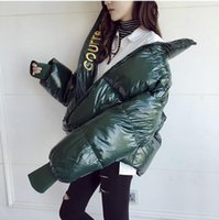 Women Down & Parkas classic Ladies Girl Student loose Thicken Warm fluffy Windproof bright cotton clothing Sexy letter Celebrities velvet autumn winte Jacket