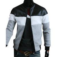 Mens Jacken Mode Kleidung Trends Farbe Block Reißverschluss Mantel Herren Langarm Casual Outwear L-3XL Männer Bomberjacke