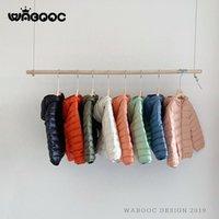 Waboooc 2021 novo 90% Duck Down Children's Down Jacket Ultra-Leve Capuz Boy Boy Casaco Casaco Jaqueta Quente