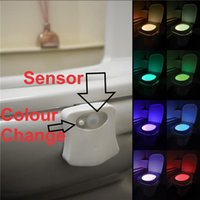 Parts Smart RV Toilet Waterproof Night Light LED Body Motion Activated On Off Seat Sensor Lamp 8 Colors PIR For Motorhome