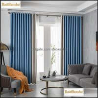 Curtain Deco El Supplies Home Gardencurtain & Drapes Modern Curtains For Living-Room Blackout Bedroom Window Door High Shading99% Custom Mad