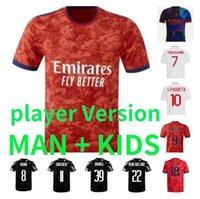 21 22 Maillot Lyonnais Soccer Jerseys Shaqiri Boateng Cherki L. Paquetá OL الرقمية قمصان كرة القدم الرابعة Traore Men Kids Kits Toko Ekambi Bruno G