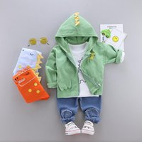 Clothing Sets Baby Girl Designer Clothes Cartoon Cardigan Coat + T-shirt Pants Infant Outfits Kids Bebes Jogging Suits Tracksuits