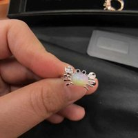 Cluster Rings Natural Australian Opal Gemstone Silver Ring Solid 925 Sterling For Lady