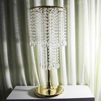 Akrilik Kristal Düğün Çiçek Topu Tutucu 60 cm Masa Centerpiece Vazo Standı Kristal Şamdan Düğün Dekorasyon Altın Gümüş Renk