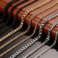 Mode bijou en acier inoxydable Collier Collier hommes et femmes Collier 18k Gold Titanium Chaînes Collier homme Chaînes de luxe Colliers 5 U2