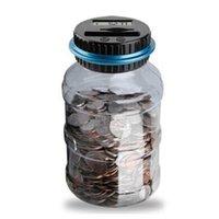 Piggy Bank Counter Coin Electronic Digital LCD Comptage Monnaie Boîte Boîte Boîte Jar Coins Stockage Boîte de stockage pour USD Euro GBP Money 158 S2