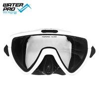 워터 프로 orca 솔로 다이빙 마스크 스노클링 안티 안개 고글 안경 다이빙 쉬운 숨을 쉬는 숨구멍 자유로운 장비