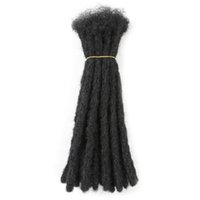 Handmade Dreadlocks Наращивания волос Black Reggae Синтетические вязание крючком Плетение закручивания волос для афро-женщин и мужчин