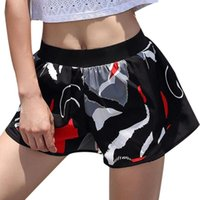 Yoga Outfits Women Casual Elastic Waist Patchwork Reflective Sporting Summer Black Shorts