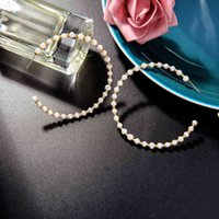 2021 Cultured Pearl Hoop Earrings For Women Party Weeding Circle Fashion Freshwater Pearls Hand-wrapped Jewelry