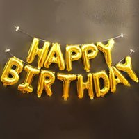 Party Decoration 13pcs lot Happy Birthday 16 Inch Foil Letter Balloons Kids Blue Pink Event Supplies