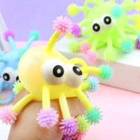 5 Inch Fidget Toys Convex Eye Luminous Hedgehog Multi-Head Octopus Glowings hed sea urchin. LED glowing ball toy that can be thrown freely on the finger