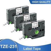 Ink Cartridges 3PCS Black On White Tze231 Laminated Label Tape Compatible Brother P-touch Printers Tze-231 Tze 231 Tz231 Tz-231 Tapes