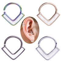 Copper Nose Rings Hoop Septum V-Shap Ear Stud Tragus Cartilage Earring Helix Eyebrow Lip Piercing Nariz Body Jewelry