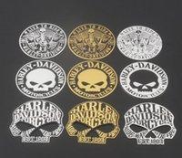 Auto Styling 9 Cm 3D Metalen Schedel Auto Sticker Auto Motorfiets Embleem Badge Decals Sticker Gepersonaliseerde Skull Logo Sticker