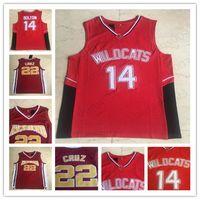 Filme 14 Troy Bolton College Men Jerseys 22 Timo Cruz East High School Jerseys Richmond High Treinador Carter Basketball Jersey Stich