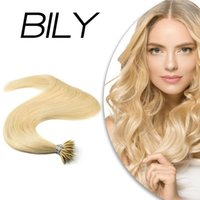 """BILY Nano Rings Micro Beads 100% Real Human Extensions Machine Remy Hair 20"""" 1.0g s 50g 20 Colors Natural Straight hair"""