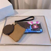 Monedero redondo de lujo de alta calidad tres en un diseñador de moda Mini bolsa de almacenamiento Bolsa de almacenamiento Cartera de encanto