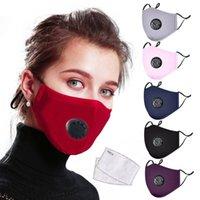 Моющаяся велосипедная антиустрасточная маска для пыли ветрозащитный рот-муфель Бактерии Хлопок PM2.5 Маска Рот Анти-туманный туман Держите теплые маски с фильтром 184 x2