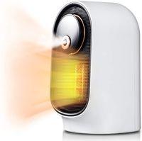 Calentador de espacio de Geek Heat HH01 800W con humidificador, 90 ° Oscilación, Capacidad del tanque de agua de 200 ml, protección contra voluntad sobre sobrecalentamiento