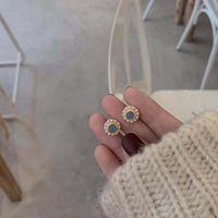 Stud 2021 Latest Design Brand Creative Light Blue Imitation Pearl Earrings Generous Minimalist Gift For Women.