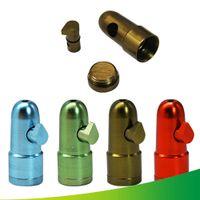 Metall Bullet Raketenförmige Snabinkrohr Snorter Sniff Dispenser Nasal Raucherpfeifen Sniffer Bongs Dauerhaftes Tabakwerkzeug