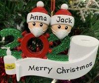 Moda Navidad Decoraciones Fiesta de cumpleaños Regalos Personalizada Árbol de Navidad Familia Colgantes populares al Por Mayor