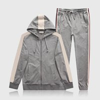 New Designer Mens Tracksuit Luxury printing Casual Suits jackets + Pants Autumn winter Zipper Kits Running Mens Hooded sports Tracksuit men fashion